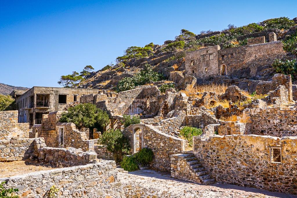 Photographie des ruines du village de Spinalonga