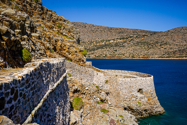 Photographie des fortifications de Spinalonga
