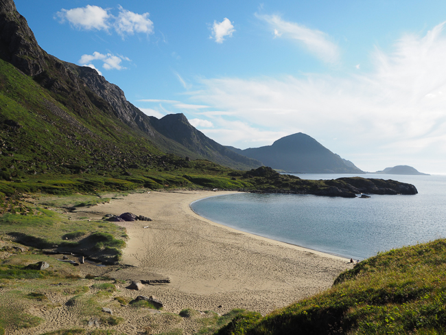 Photographie de la plage de Skipssanden en Norvège