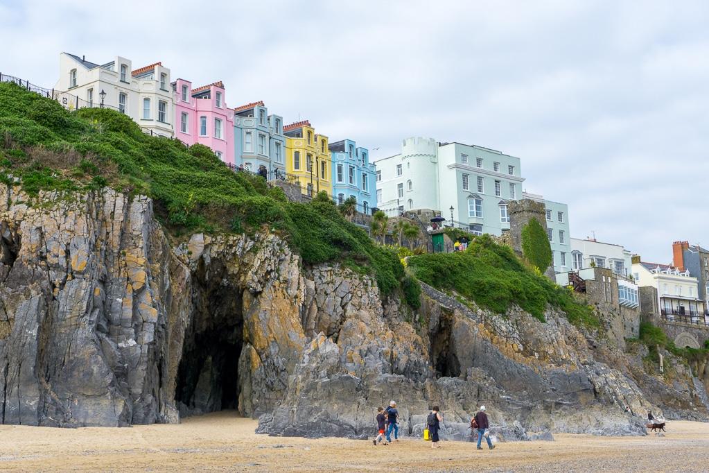 Photographie de la plage de Tenby au Pays de Galles