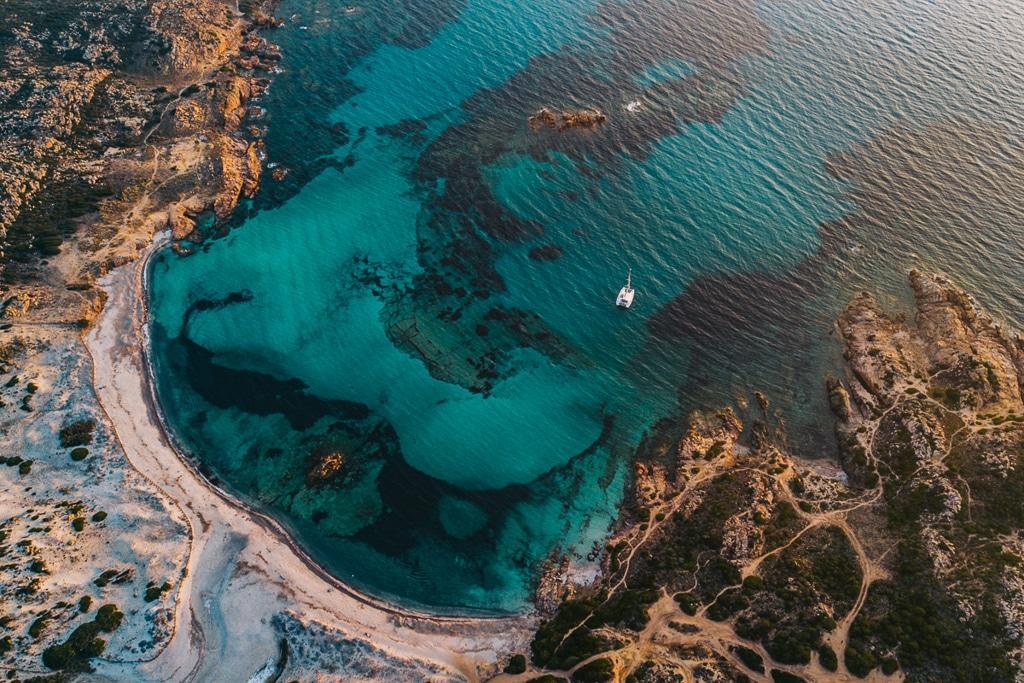 Photographie d'une des plus belles plages d'Europe, la plage de Stagnolu
