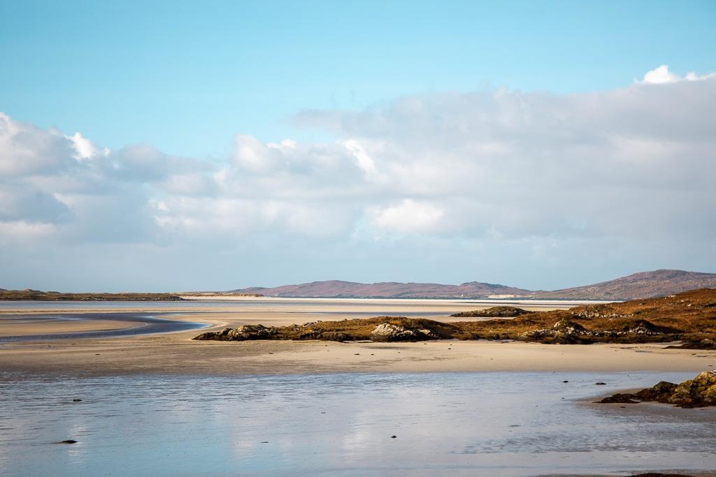 Photographie de la plage de Luskentyre en ecosse