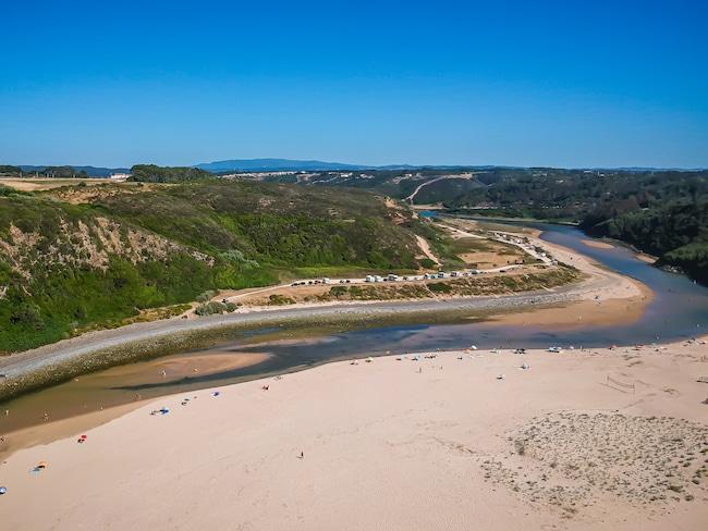 Photographie d'une des plus belles plages d'Europe, la plage d'Odeiceixe