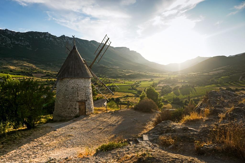 Photographie du moulin de Cucugnan