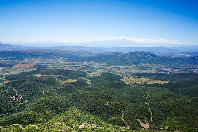 Photographie du panorama depuis le chateau de Quéribus