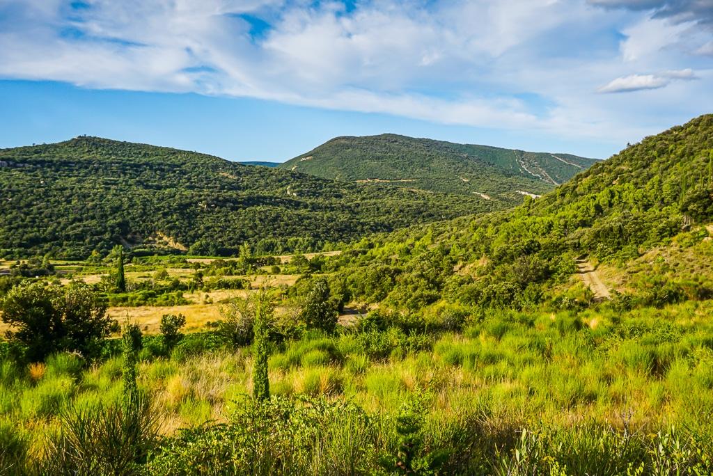 Photographie de la campagne aux alentours de Peyrepertuse