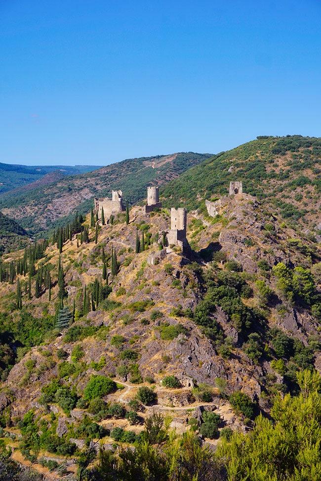 Photographie depuis le belvedere des Châteaux de Lastours