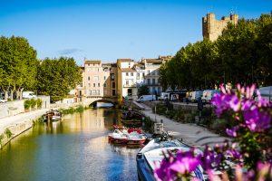 Photographie du canal de Narbonne dans l'Aude