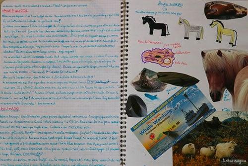 Exemple d'un carnet de voyage d'enfant