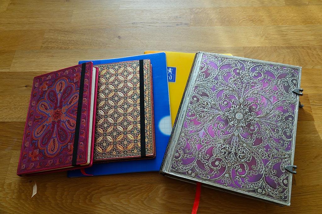 Exemple de couverture de different carnet de voyage