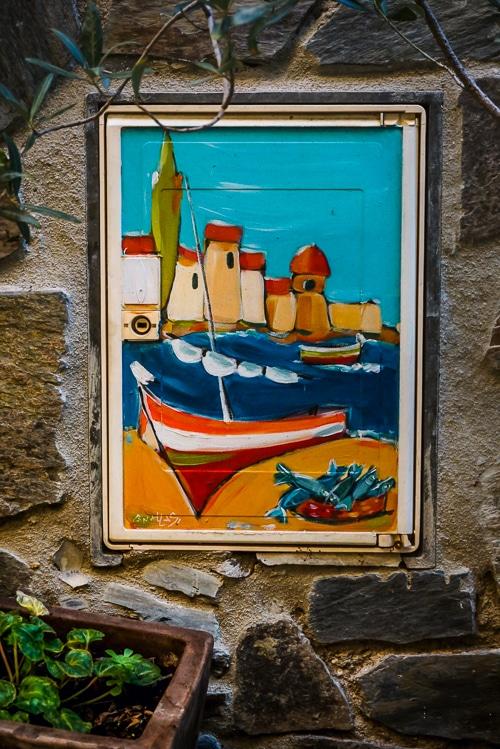 Photographie d'un tableaux representatif du fauvisme a collioure