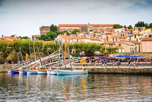 Photographie des barques catalanes du port de collioure