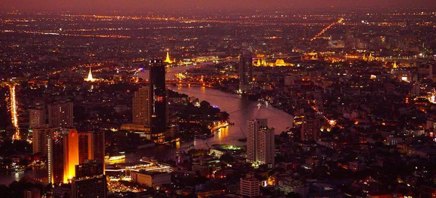 Photographie de Bangkok au coucher du soleil